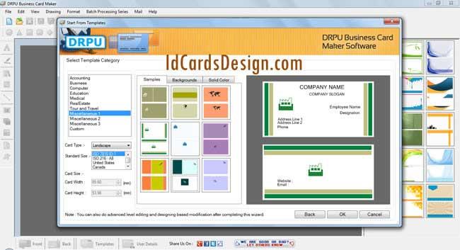 Windows 7 Business Card Designing 8.3.0.1 full